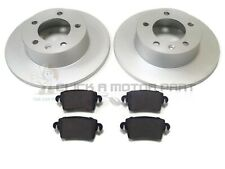 RENAULT MASTER 1.9 2.2 2.5 2.8 2000-2010 REAR 2 BRAKE DISCS AND PADS FWD ONLY