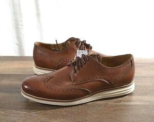 Cole Haan Men's Original Grand Swing Wingtip Oxford Shoe 10 MED Brown C26471