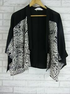 VIRTUELLE Jacket Sz XXS-XS, 14? Black, White print