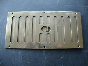 """Super very large cast brass air vent in excellent working condition 12"""" x 6"""""""