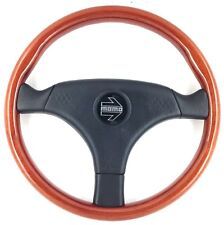 Genuine Momo VL35 350mm wood and leather steering wheel. New Old Stock NOS.  18B