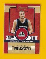 23645 KEVIN LOVE 2010/11 CLASSICS DRESS CODE GOLD #16 🏀 CARD #100/100