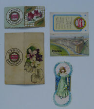 1900's Necco's Chocolates lot of 4 different Calendars and bookmark