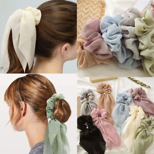 Double Layer Bow Hair Rope Hair Tie Scrunchies Elastic Chiffon Ponytail Rope