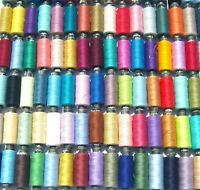 50 POLYESTER ALL PURPOSE  SEWING  SPOOLS THREAD-50 different Colours