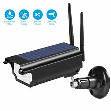 Solar Power Light Sensor LED Wall Lamp Garden Outdoor Fake Camera WiFi Security