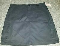NWT Womens Dickies Cotton Cargo Casual Skirt  Black Pockets Zip Sizes  4  10  14