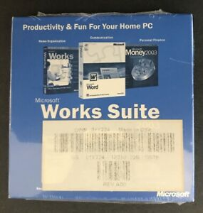 Microsoft Works Suite 2003 ~ Word 2002 with Key ~ Dell NEW SEALED