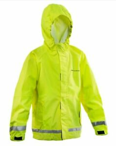 Grundens Kids Weather Watch Hooded Rain Jacket Fishing Hi-Vis Yellow  10090