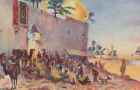 H.G. Leahy - Mid 20th Century Watercolour, Town in the Middle East