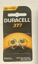 2 x Duracell 377 376 AG4 SR626SW SR626 Silver Oxide Watch Batteries