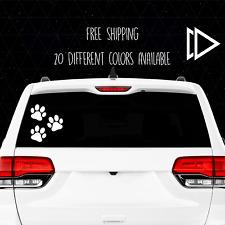 Set of 3 Dog Paw Prints Vinyl Decal Sticker - Car Laptop Macbook Pro Animal Pets