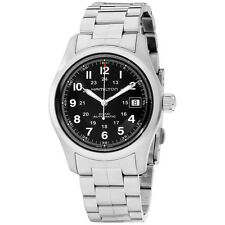 Hamilton Men's HML H70455133 Khaki Field Analog  Swiss Automatic Silver Watch
