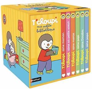 Ma petite bibliothèque de T'choupi avec 6  livres pour enfant à partir de 2 ans