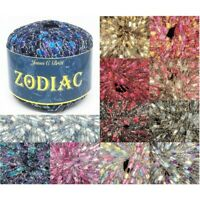 James C Brett 50g Ball Zodiac Sparkly Ladder Fashion Craft Yarn