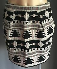 NWOT Unique DOTTI Multi Colour Geometric Print Mini Skirt Size 10