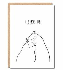 I like Us funny Birthday Anniversary card for Husband Boyfriend Wife Girlfriend