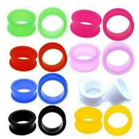 8pcs Lots Silicone Ear Expander Skin Flesh Tunnels Plugs Gauges Earlet ZWD