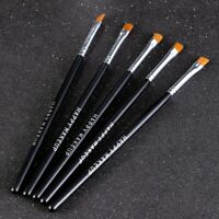 5Pcs Eyebrow Inclined Flat Angled Brush Eyeliner Eyeshadow Eye Brow Makeup Tool