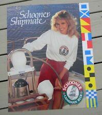 Vintage1988 Schooner Beer Nautical Shipmate Poster Sign Canada Blonde Edson Boat