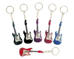 Guitar Key Chain, Keychain, Key Chains 2 Dozen (24 Pcs) Prizes, Gift Bag, Party