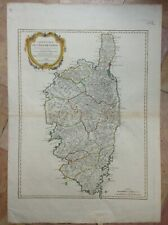 CORSICA FRANCE 1769 18TH CENTURY ROBERT DE VAUGONDY LARGE NICE ANTIQUE MAP
