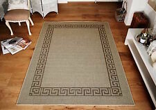 Kitchen Rugs & Hall Runners Greek Key Flatweave Utility Mats  Beige  NOW ON SALE