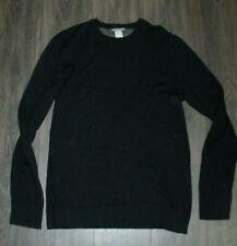 Horny Toad Merino Wool Crew Neck Sweater LARGE Black