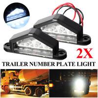 2X LED Rear License Number Plate Light Lamp For Truck Boat Caravan 12/24V //