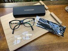 Neuwertig Burberry Brille schwarz Nova check 51-16- 140 mm B 2141 3001