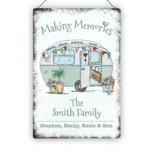 Personalised Caravan Camping Holiday Metal Sign Plaque Wedding Gift 200 x 300mm