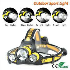 Upgraded BORUiT 4Mode XM-L2 R5 3 LED Hunting Sport Headlamp 4AA Head Light Torch