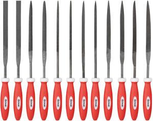 Nadelfeilen Set 12-tlg Schlüsselfeilen 150mm Nadel Feile Satz Raspel Metallfeile