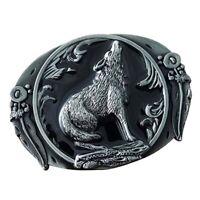 Boucle de ceinture en métal occidentale de boucle de cru d'animal de loup