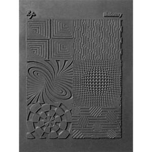 Lisa Pavelka Texture Stamp Mold Sheet Mat Polymer Clay ILLUSIONARY Made USA