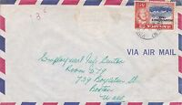 BD242) Nice Jamaica Air Mail cover bearing: 8d QEII, Price: $6