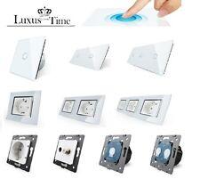 LIVOLO Glas Touch Lichtschalter Funkschalter Steckdosen Wechselschalter uvm WEIS
