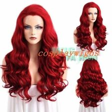 """24"""" Fashion Long Curly Red Lace Front Synthetic Full Hair Wig"""