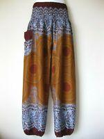 New Ladies Harem Pants Baggy Bohemian Boho Hippie Aladdin Yoga Genie Trousers HR