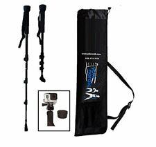 Collapsible Trekking & Hiking Poles w/ GoPro Mounting Camera & Bag