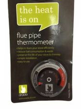 Arada Magnetic Stove/ Flue Pipe Thermometer For A Wood Burner Or Multifuel Stove
