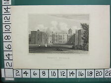 1829 DATED ANTIQUE YORKSHIRE PRINT ~ TEMPLE NEWSAM