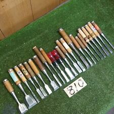 Japanese Vintage Chisel Nomi 23 pcs carpentry wooden Daiku work tools japan