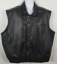 Excelled US Army Air Force Vest Leather Jacket Type B-9 Black Mens 2XL Big Vtg