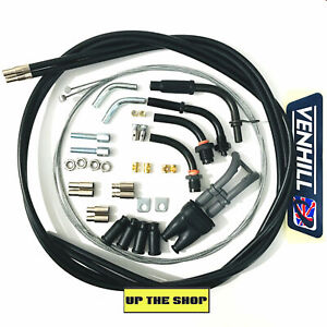 VENHILL Universal DIY Twin Throttle cable kit, 1.35m long Motorcycle U01-4-150