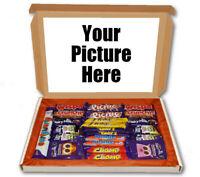 Custom Photo Any Picture 24 Bar Cadbury Chocolate Hamper Personalised Gift Box