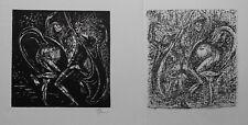 Fritz Cremer: Mephisto und die Alte tanzend I, Linolschnitt u. Lithografie