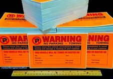 QTY: 50 (LOWEST PRICE IN USA) Illegally Parked WINDOW VIOLATION WARNING STICKERS