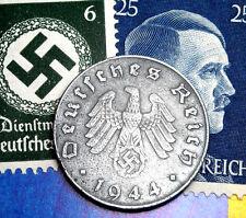 D-DAY 1944-E WW2 NAZI Germany 10 Reichspfennig SWASTIKA Coin / Hitler Stamp LOT
