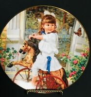 Me And My Pony By Sandra kuck Made in USA collectors Plate